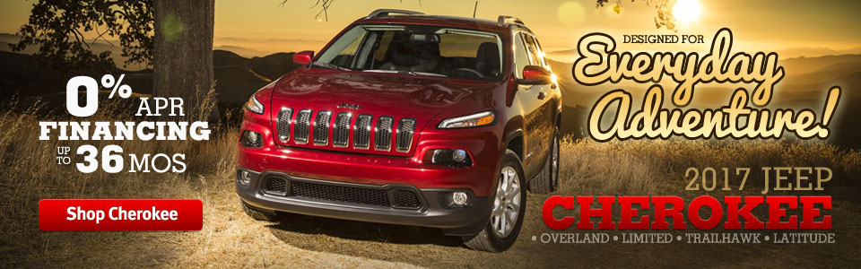 2017 Jeep Cherokee In Stock!