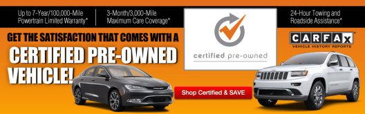 Jeep Certified Pre Owned >> Certified Pre Owned Program For Chrysler Dodge Jeep Cars In Ct
