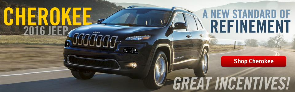 2016 Jeep Cherokee In Stock