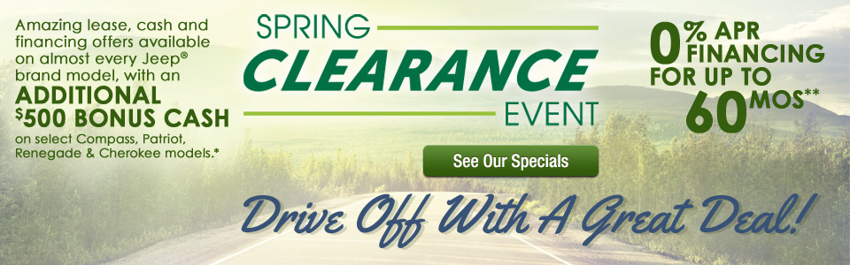 Spring Clearance Sales Event