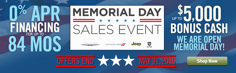 Memorial Day Sales Event Going On Now OPEN