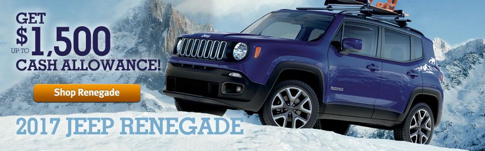 Get $1500 Cash Allowance on 2017 Jeep Renegade