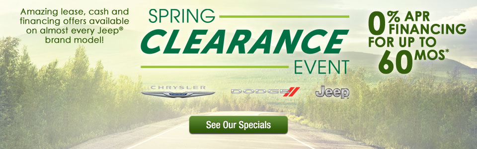 Jeep City Announces Spring Clearance Event