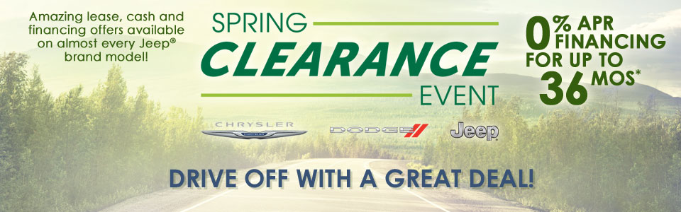 April Spring Clearance Event