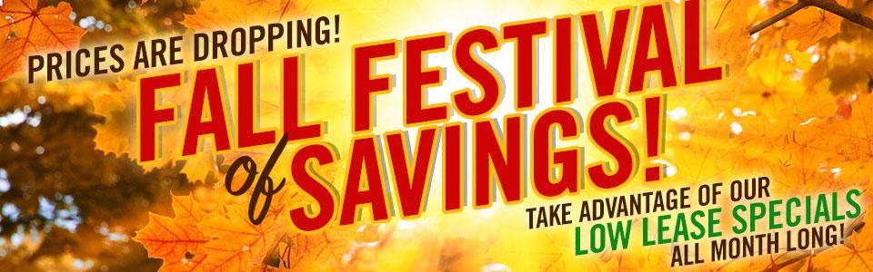 Fall Festival of Savings
