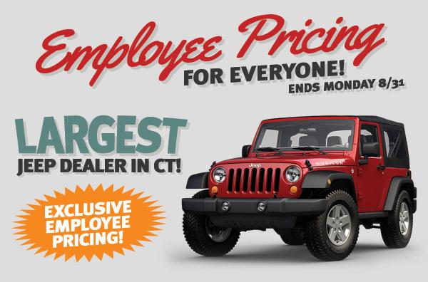 Jeep Employee Pricing Norwalk CT