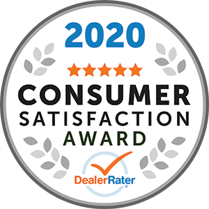 2020 DealerRater Consumer Satisfaction Award